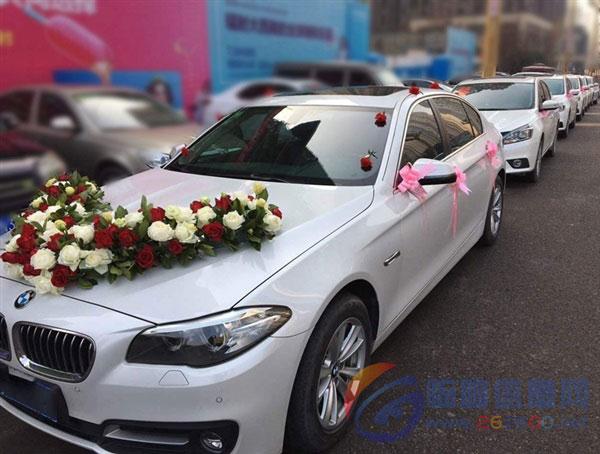 临朐白色宝马5系车队,临朐宝马白色婚车